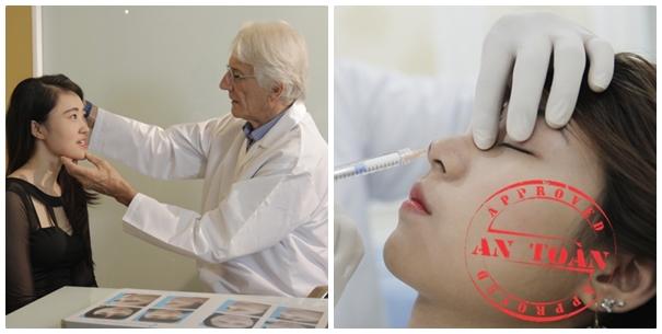 Mũi cao thon gọn không cần phẫu thuật với quy trình thực hiện an toàn